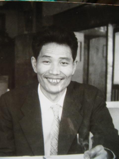 おじさんの出征 升田名人歓迎会 -------------------... の色紙と若い時の写